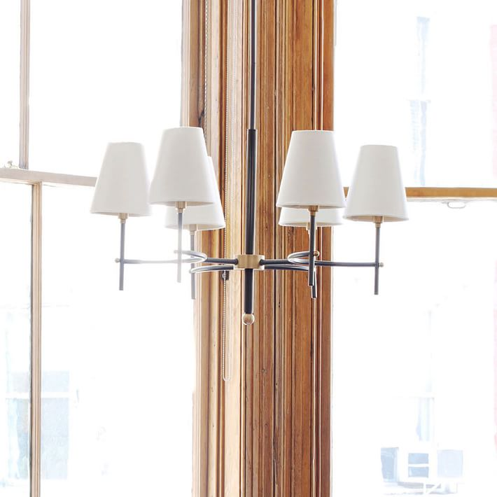 Arc Mid-Century Chandelier - 6-Light