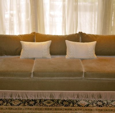 So You Want to Update your Shabby (No Longer Chic) Overstuffed Sofa